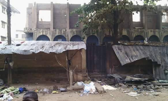 Photo of Onitsha Mosque taken on Thursday, December 3, 2015, a day after the pro-Biafra protests in which 9 unarmed protesters were killed | John Okiyi Kalu/Facebook