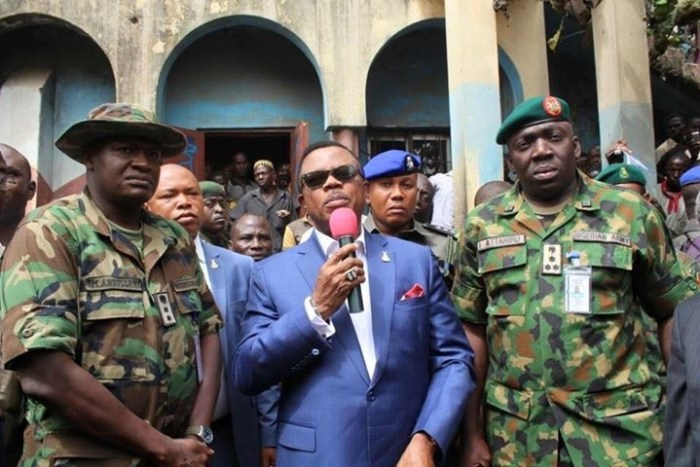 Governor Willie Obiano visits Onitsha mosque in December 2015