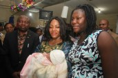 Rivers' First Lady, Justice (Mrs) Suzette Nyesom-Wike visits new born babies in the hospital on Christmas Day, December 25, 2015