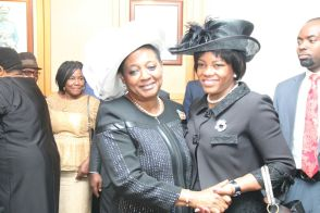 The CJ Justice Daisy Okocha and Her Excellency Justice Eberechi Wike in a warm embrace. | Facebook