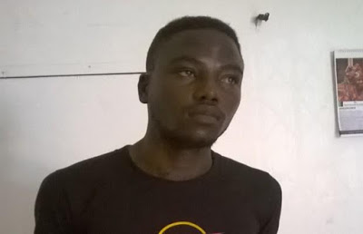 John Collins Alabi was arrested for stabbing his landlord to death in Ghana