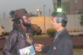 Curator of The Diplomatic Jazz Night, Onyeka Nwelue and Mr. Kanyal