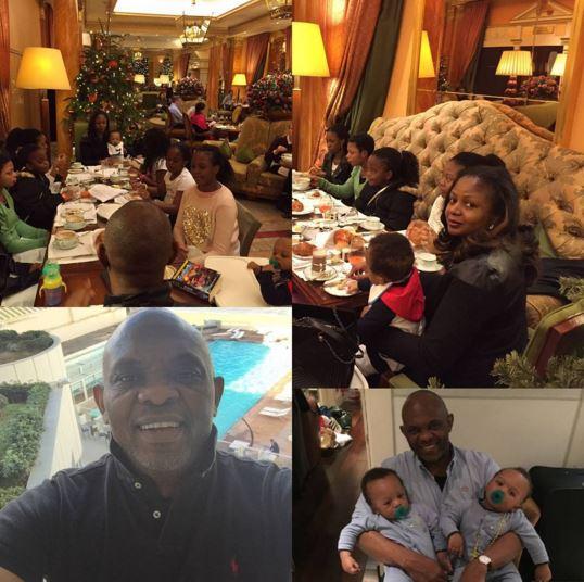 Tony Elumelu shares photo of his twin sons | Instagram