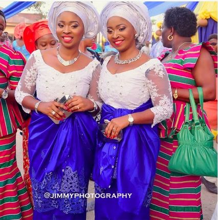 identical twin sisters got married same day last December in Benin, Edo State   JimmyPhotography