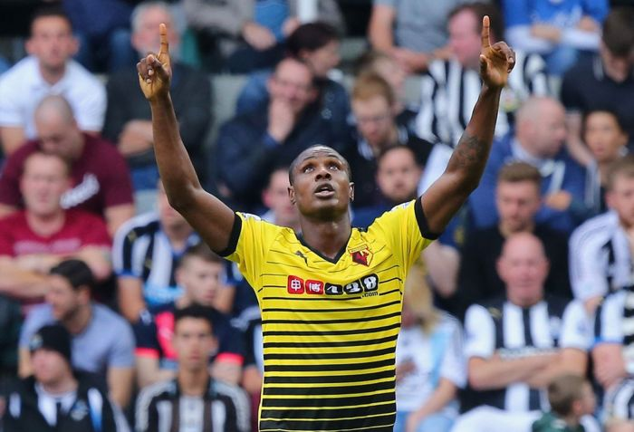 Odion Ighalo during a match between Newcastle and Watford   Reuters