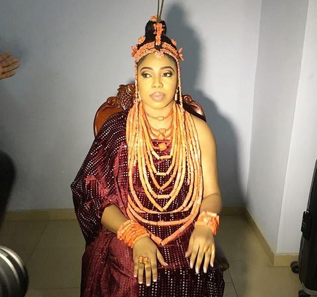 Olori Wuraola, the new wife of the Ooni of Ife