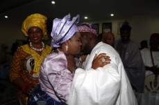 Dame Patience Jonathan and former President Olusegun Obasanjo at a party | Facebook/Ifeanyi Njoku