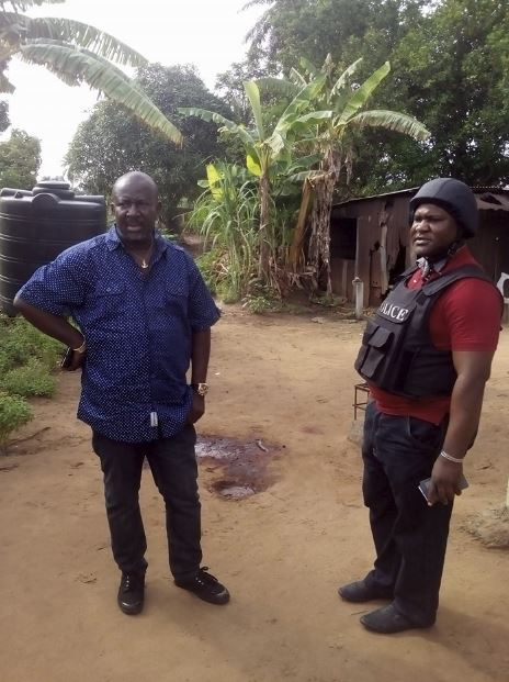 Assassinated PDP chieftain, Chief Lucky Ajie (Idu) (Right).