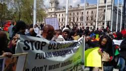 London protest UK Nigerians in Against Fulani Herdsmen