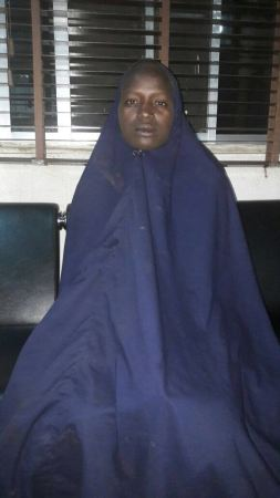 Serah Luke, a kidnapped and rescued Chibok schoolgirl | Nigerian Army Photo