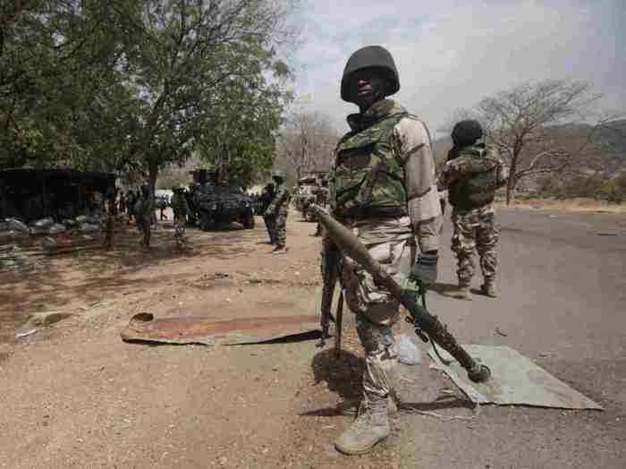 Boko Haram troops soldiers