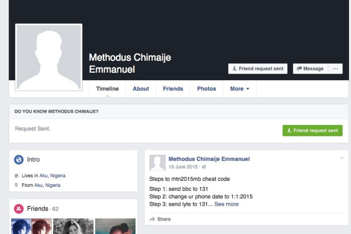One Methodus Chimaije Emmanuel was killed in Niger State by a Muslim mob over a Facebook post, allegedly insulting the Prophet Mumammud | Screengrab from Facebook
