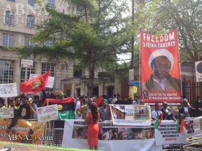 Zaria massacre shi'ites tukur buratai muhammadu buhari london protests shia