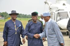 The Executive Governor of Rivers State Nyesom Wike officially welcomed the Vice President Osinbanjo to Bodo for the launching and flag off of Ogoni clean-up