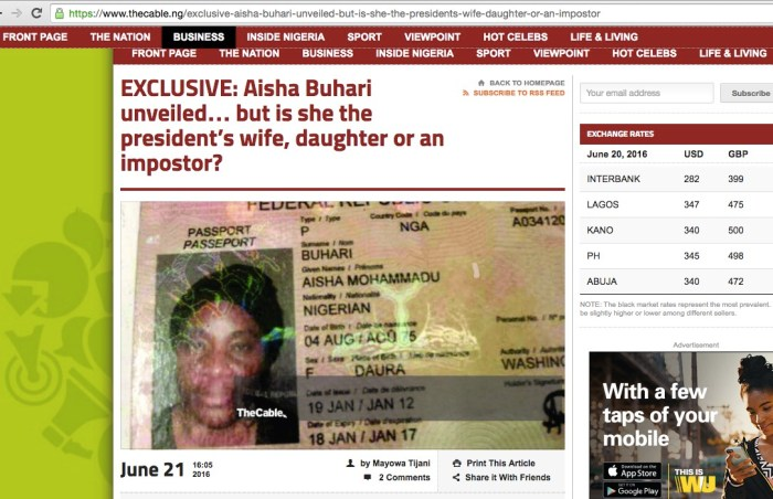 The other Aisha Buhari story | Screengrab from The Cable