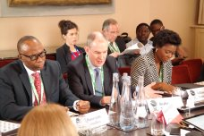 Governor Olusegun Mimiko (left) at the Chatham House, London Conference on Thursday, June 16, 2016 | John Paul Akinduro