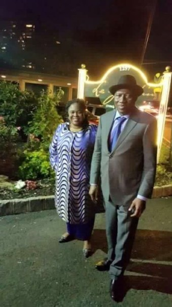 Dame Patience and Dr. Goodluck Jonathan spotted out on date night in New Jersey, United State on Tuesday, June 7, 2016