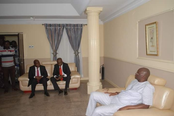 Officials of Zenith Bank during a visit to Governor Ayo Fayose of Ekiti State in the Government House, Ado Ekiti on Thursday, June 23, 2016