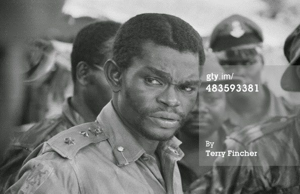 Major Adekunle Benjamin in a war time photo | Terry Finch/Getty Images