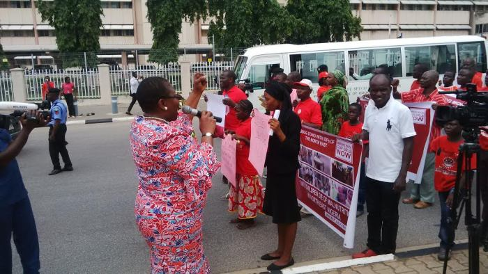 Oby Ezekwesili blocked from entering the Presidential Villa, Aso Rock on Monday, August 22, 2016 | Twitter