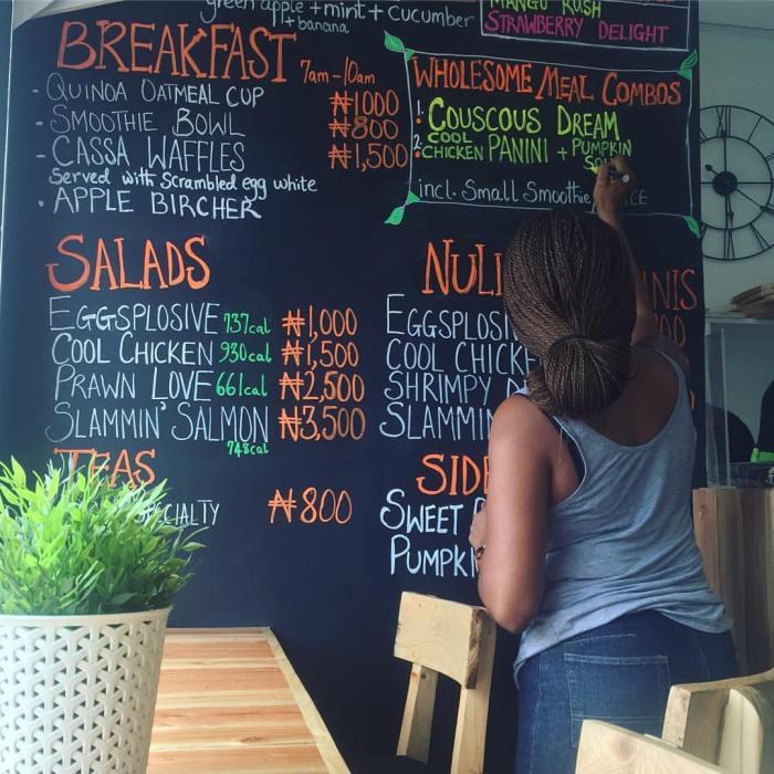 Inside the Nuli Juice shop in Ikoyi Lagos