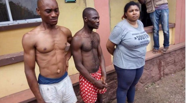 Oluchi Tochukwu (right) and the two suspects   Police Handout
