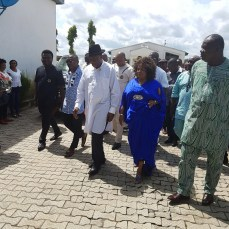 Former President Goodluck Jonathan and wife, Dame Patience Jonathan pictured at Port Harcourt International Airport on Sunday, October 2, 2016 | The Trent