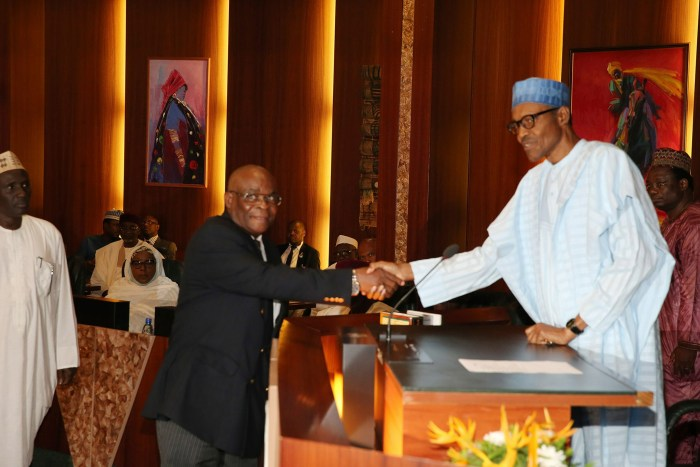 Walter Onnoghen, Chief Justice of Nigeria, Justice Onnoghen, President Muhammadu Buhari