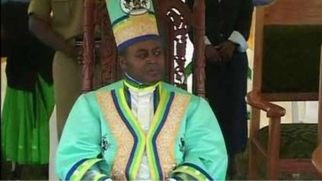King Charles Mumbere (pictured) is accused of separatism by the government