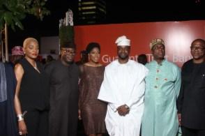 L-R Ruth Osime, Kayode Fayemi, Mo Abudu, Adebola Williams, Rotimi Amaechi, Peter Obi at #TFAA2016