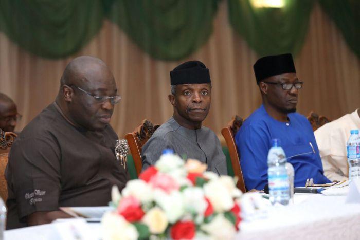 Niger Delta Abia Governor, Dr. Okezie Ikpeazu Yemi Osinbajo