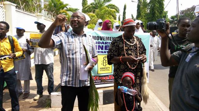 Ariyo-Dare Atoye Ekiti the Amnesty International solidarity rally