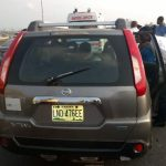 The scene of a suicide on 3rd Mainland Bridge, Sun, March 19, 207