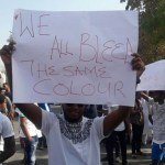 Nigerian students protesting attack on their colleagues in India   BBC