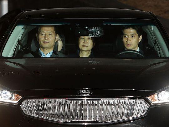 Ousted South Korean President Park Geun-hye,