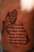 Praying Hand Tattoo Faith