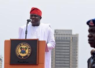 Pen Cinema Governor Akinwunmi Ambode of Lagos State   Sunday Ohwo mainland
