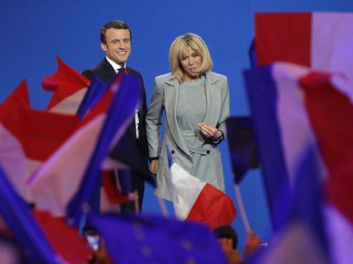 FILE: Emmanuel Macron and his wife Brigitte Trogneux