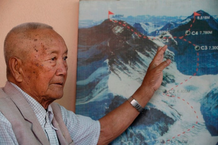 Nepali mountain climber Min Bahadur Sherchan, 85, died attempting to climb Mount Everest to break record