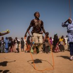 adamawa Children play with a ball during a recess at a UNICEF nigeria borno school schoolchildren nigeria