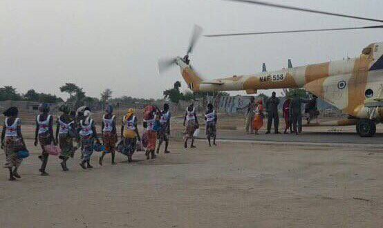 82 Chibok schoolgirls who were kidnapped by Boko Haram freed | Min of Info Photo