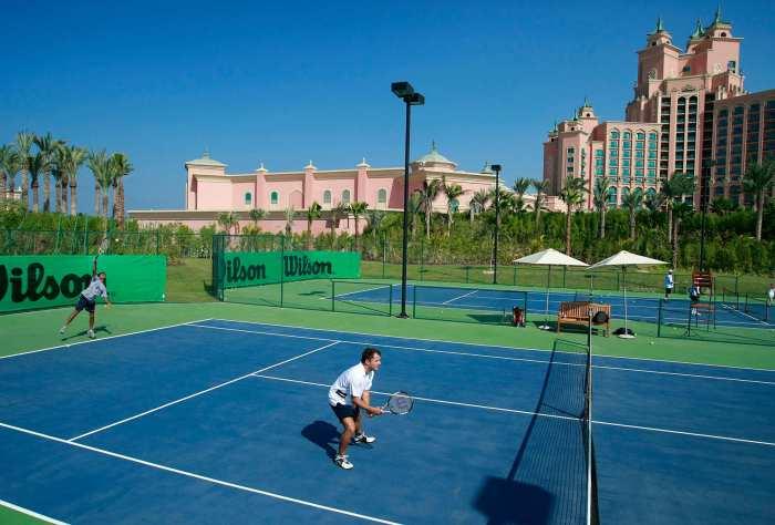 A tennis court at Atlantis The Palm Dubai shopping