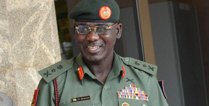 python dance Boko Haram The Chief of Army Staff, Lieutenant General Tukur Yusuf Buratai