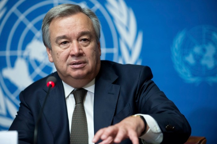 Antonio Guterres, the Secretary General of the United Nations, UN Boko Haram