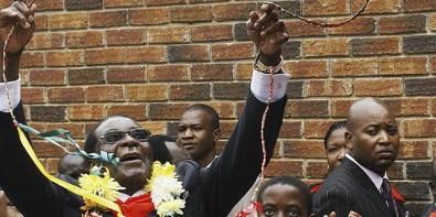 Robert Mugabe, the president of Zimbabwe