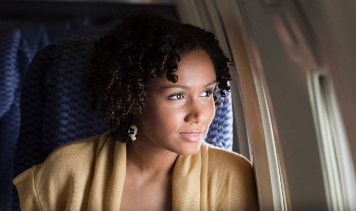 single airport airplane travel woman