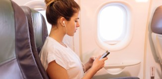 language airport airplane travel woman