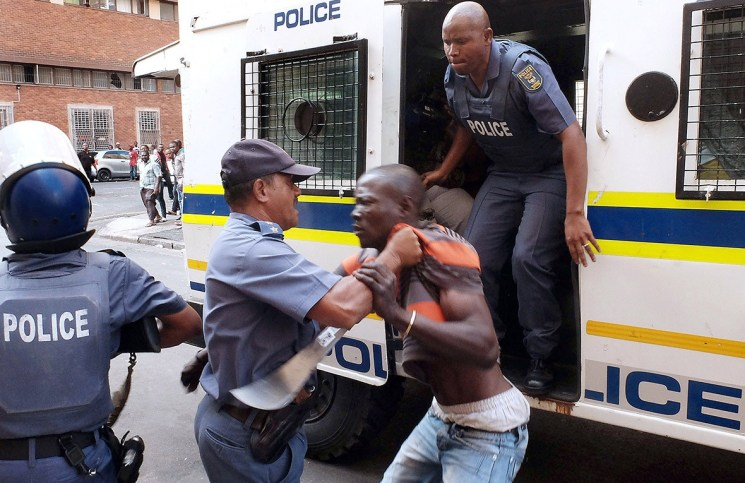South Africa South African Police Nigerians