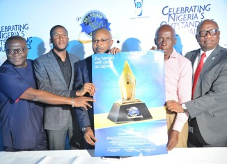 File: Picture taken at the 2016 edition of the Nigerian Breweries Golden Pen Awards