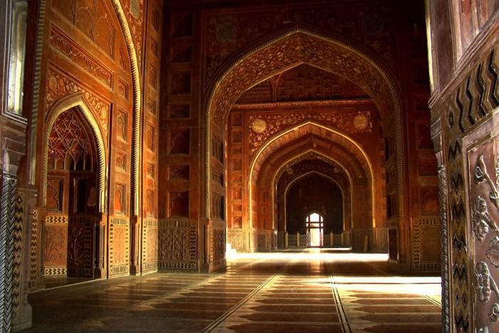 Mosque interior of the Taj Mahal india